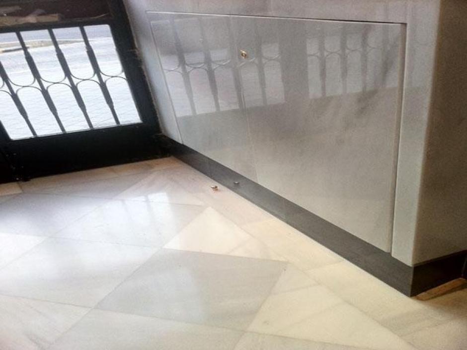 Solado de portal de m rmol blanco macael - Precios de marmoles ...