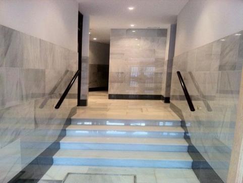 Escalera portal m rmol blanco macael - Granito en espana ...