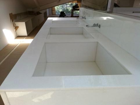 Encimera ba o marmol blanco thassos for Marmol blanco real