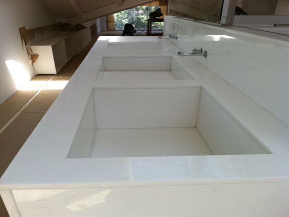 encimera bao marmol blanco thassos - Encimera Marmol